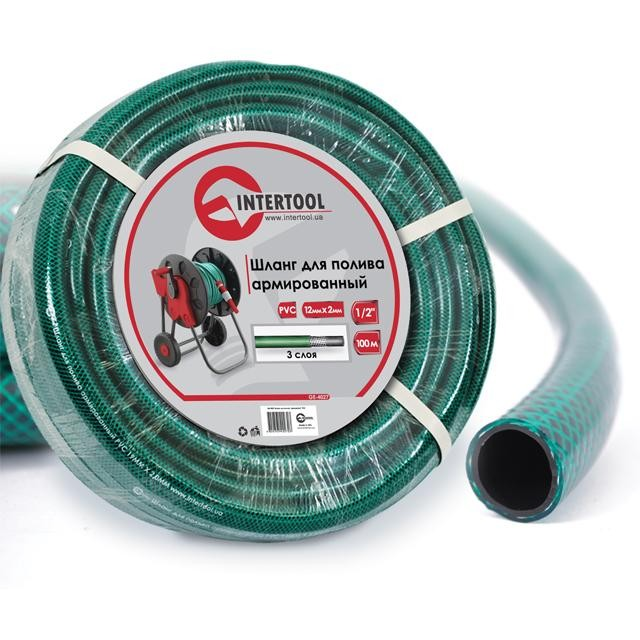 "Garden hose, 3 layers 1/2"", 100 m, PVC, reinforced INTERTOOL GE-4027"