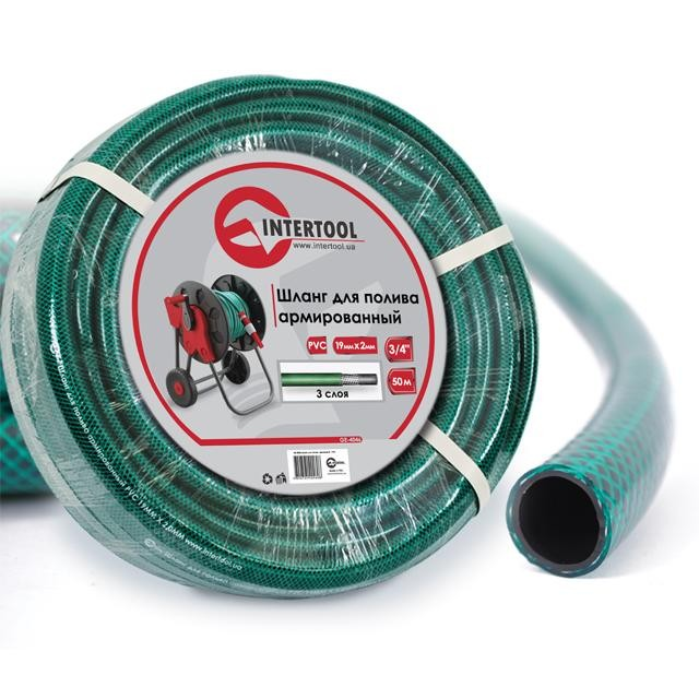 "Garden hose, 3 layers 3/4"", 50 m, PVC, reinforced INTERTOOL GE-4046"