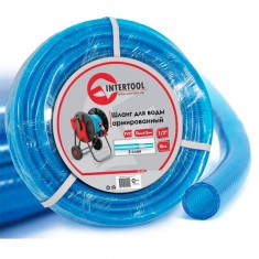 "Water hose 3 layers 1/2"", 10 m, PVC, reinforced INTERTOOL GE-4051"