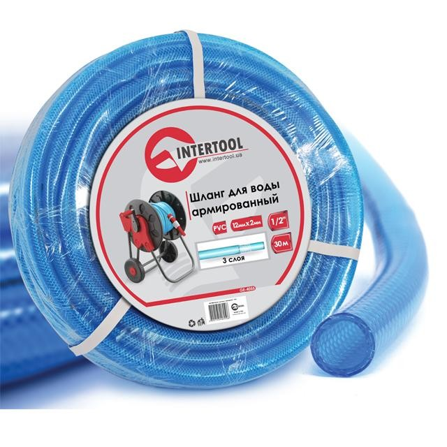 "Water hose 3 layers 1/2"", 30 m, PVC, reinforced INTERTOOL GE-4055"