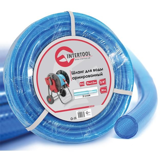 "Water hose 3 layers 3/4"", 50 m, PVC, reinforced INTERTOOL GE-4076"