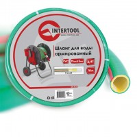 "Water hose 4 layers 3/4"", 10 m, PVC, reinforced INTERTOOL GE-4121"