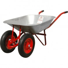 "Wheel barrow 65L, 140KG, 2 airwheels with bearings 14"" INTERTOOL WB-0623: фото 2"