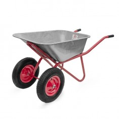 "Wheel barrow 85L, 160KG, 2 airwheels with bearings 15"" INTERTOOL WB-0825: фото 2"
