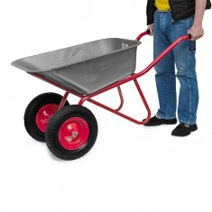 "Wheel barrow 85L, 160KG, 2 airwheels with bearings 15"" INTERTOOL WB-0825: фото 3"