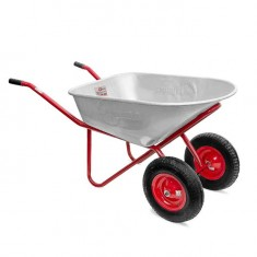 "Wheel barrow 100L, 180KG, 2 airwheels with bearings 15"" INTERTOOL WB-1025"