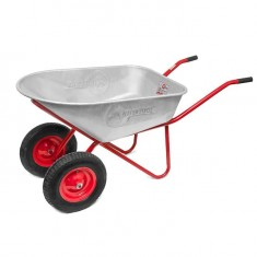 "Wheel barrow 100L, 180KG, 2 airwheels with bearings 15"" INTERTOOL WB-1025: фото 2"