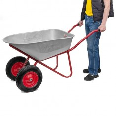 "Wheel barrow 100L, 180KG, 2 airwheels with bearings 15"" INTERTOOL WB-1025: фото 3"