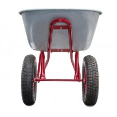 "Wheel barrow 100L, 180KG, 2 airwheels with bearings 15"" INTERTOOL WB-1025: фото 4"