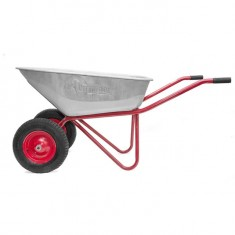"Wheel barrow 100L, 180KG, 2 airwheels with bearings 15"" INTERTOOL WB-1025: фото 7"
