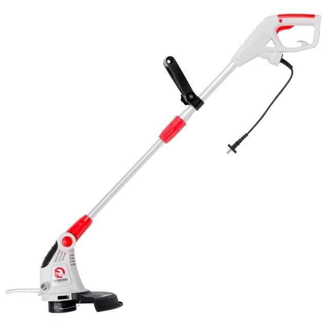 Grass trimmer 450 W, 230 V, 9000 rpm, telescopic handle, working area diameter 300 mm, nylon line diameter 1.4 mm INTERTOOL DT-2241