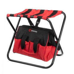 Folding chair with a tool bag, up to 90 kg, 420x310x360 mm INTERTOOL BX-9006