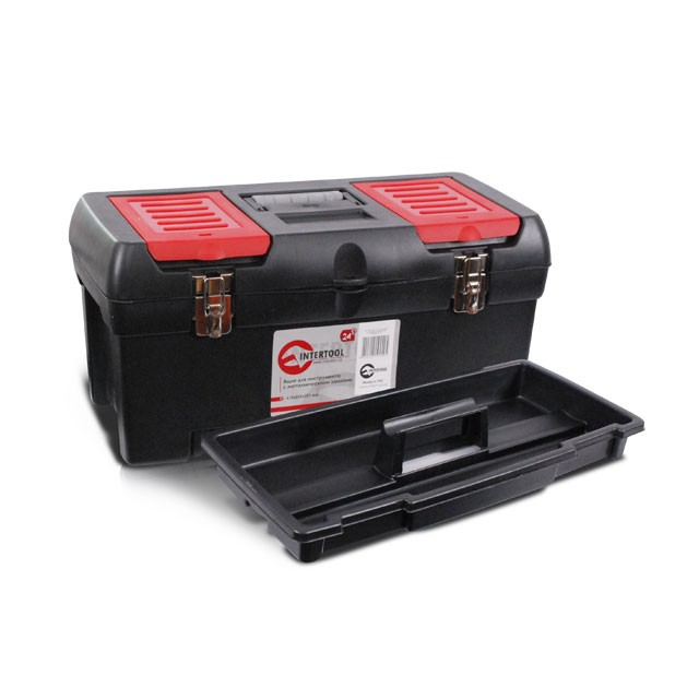 "Tool box with metal locks 24"" 610x255x251 mm INTERTOOL BX-1024"