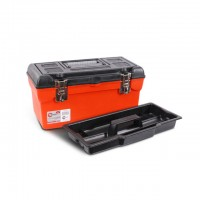 "Tool box with metal locks 16"" 396x216x164mm INTERTOOL BX-1116"