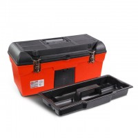 "Tool box with metal locks 24"" 610x255x251mm. INTERTOOL BX-1123"
